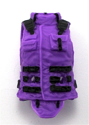 "Female Vest: High Collar Type PURPLE & Black Version - 1:18 Scale Modular MTF Valkyries Accessory for 3-3/4"" Action Figures"