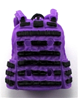"Female Vest: Utility Type PURPLE & Black Version - 1:18 Scale Modular MTF Valkyries Accessory for 3-3/4"" Action Figures"