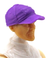 "Headgear: Baseball Cap PURPLE Version - 1:18 Scale Modular MTF Accessory for 3-3/4"" Action Figures"