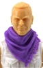 "Headgear: Large Neck Scarf ""Shemagh"" PURPLE Version - 1:18 Scale Modular MTF Accessory for 3-3/4"" Action Figures"