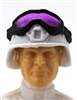 "Headgear: Large Goggles BLACK Version with PURPLE Tint - 1:18 Scale Modular MTF Accessory for 3-3/4"" Action Figures"