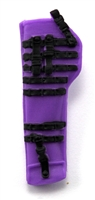 "Rifle Sheath Backpack: PURPLE & BLACK Version - 1:18 Scale Modular MTF Accessory for 3-3/4"" Action Figures"