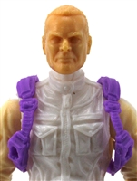"Steady Cam Gun: Steady Cam Harness PURPLE Version - 1:18 Scale Modular MTF Accessory for 3-3/4"" Action Figures"