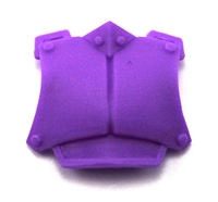 "Armor Chest Plate: PURPLE Version - 1:18 Scale Modular MTF Accessory for 3-3/4"" Action Figures"