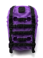 "Backpack: Modular Backpack PURPLE & BLACK Version - 1:18 Scale Modular MTF Accessory for 3-3/4"" Action Figures"
