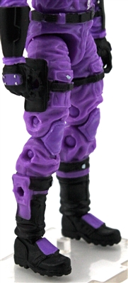 "Male Legs: PURPLE Cloth Legs (NO Armor) -  Right AND Left Pair-NO WAIST-LEGS ONLY  - 1:18 Scale MTF Accessory for 3-3/4"" Action Figures"