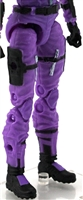 "Female Legs WITH Waist: PURPLE Legs  - Right AND Left Legs WITH Waist - 1:18 Scale MTF Valkyries Accessory for 3-3/4"" Action Figures"