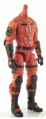 "MTF Male Trooper Body WITHOUT Head RED with Black ""Command-Ops"" Version BASIC - 1:18 Scale Marauder Task Force Action Figure"