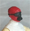 "Male Head: Mask with Goggles & Breather RED Version - 1:18 Scale MTF Accessory for 3-3/4"" Action Figures"