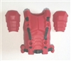 "Male Vest: Armor Type RED Version - 1:18 Scale Modular MTF Accessory for 3-3/4"" Action Figures"