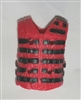 "Male Vest: Tactical Type RED Version - 1:18 Scale Modular MTF Accessory for 3-3/4"" Action Figures"