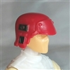 "Headgear: Armor Helmet RED Version - 1:18 Scale Modular MTF Accessory for 3-3/4"" Action Figures"