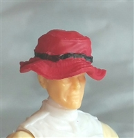 "Headgear: Boonie Hat RED Version - 1:18 Scale Modular MTF Accessory for 3-3/4"" Action Figures"