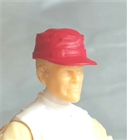 "Headgear: Fatigue Cap RED Version - 1:18 Scale Modular MTF Accessory for 3-3/4"" Action Figures"