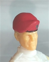 "Headgear: Beret RED Version - 1:18 Scale Modular MTF Accessory for 3-3/4"" Action Figures"