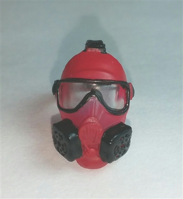 "Headgear: Gasmask RED Version - 1:18 Scale Modular MTF Accessory for 3-3/4"" Action Figures"