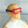 "Headgear: Standard Goggles with Strap RED Version - 1:18 Scale Modular MTF Accessory for 3-3/4"" Action Figures"