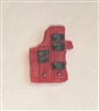 "Pistol Holster: Large Right Handed with Loop RED Version - 1:18 Scale Modular MTF Accessory for 3-3/4"" Action Figures"