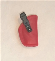 "Pistol Holster: Small Right Handed RED Version - 1:18 Scale Modular MTF Accessory for 3-3/4"" Action Figures"