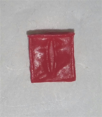 "Ammo Pouch: Empty RED Version - 1:18 Scale Modular MTF Accessory for 3-3/4"" Action Figures"