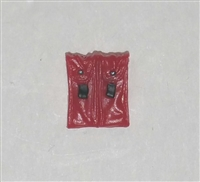 "Ammo Pouch: Double Magazine RED Version - 1:18 Scale Modular MTF Accessory for 3-3/4"" Action Figures"