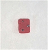 "Armor Panel: Small Size RED Version - 1:18 Scale Modular MTF Accessory for 3-3/4"" Action Figures"