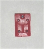 "Armor Panel: Large Size RED Version - 1:18 Scale Modular MTF Accessory for 3-3/4"" Action Figures"