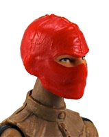 "Female Head: Balaclava Mask RED Version - 1:18 Scale MTF Valkyries Accessory for 3-3/4"" Action Figures"