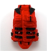 "Female Vest: High Collar Type Red Version - 1:18 Scale Modular MTF Valkyries Accessory for 3-3/4"" Action Figures"