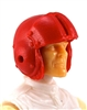 "Headgear: RED Flight Helmet - 1:18 Scale Modular MTF Accessory for 3-3/4"" Action Figures"