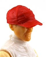 "Headgear: Baseball Cap RED Version - 1:18 Scale Modular MTF Accessory for 3-3/4"" Action Figures"