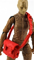 "Satchel Case with Strap: RED Version - 1:18 Scale Modular MTF Accessory for 3-3/4"" Action Figures"