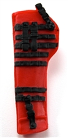 "Rifle Sheath Backpack: RED & BLACK Version - 1:18 Scale Modular MTF Accessory for 3-3/4"" Action Figures"