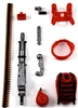 Steady-Cam Gun Gun-Metal DELUXE Set: RED & BLACK Version - 1:18 Scale Weapon Set for 3 3/4 Inch Action Figures