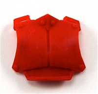 "Armor Chest Plate: RED Version - 1:18 Scale Modular MTF Accessory for 3-3/4"" Action Figures"