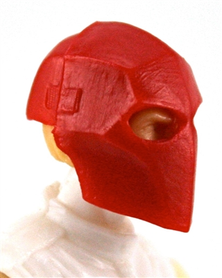 "Armor Mask: RED Version - 1:18 Scale Modular MTF Accessory for 3-3/4"" Action Figures"