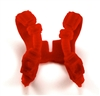 "Male Vest: Shoulder Rig RED Version - 1:18 Scale Modular MTF Accessory for 3-3/4"" Action Figures"