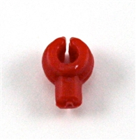 """C-Clip"" Universal Modular Mounting Peg: RED Version - 1:18 Scale MTF Accessory for 3 3/4 Inch Action Figures"
