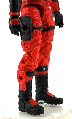 "Male Legs: RED Cloth Legs (NO Armor) -  Right AND Left Pair-NO WAIST-LEGS ONLY  - 1:18 Scale MTF Accessory for 3-3/4"" Action Figures"