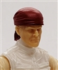 "Headgear: ""Bandana"" Head Cover RED Version - 1:18 Scale Modular MTF Accessory for 3-3/4"" Action Figures"