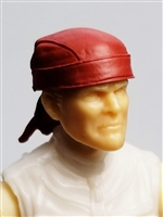 "Headgear: ""Do-Rag"" Head Cover RED Version - 1:18 Scale Modular MTF Accessory for 3-3/4"" Action Figures"