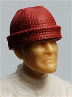 "Headgear: Knit Cap ""Ski Cap"" RED Version - 1:18 Scale Modular MTF Accessory for 3-3/4"" Action Figures"