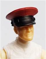 "Headgear: Officer Cap ""Dress Hat"" RED Version - 1:18 Scale Modular MTF Accessory for 3-3/4"" Action Figures"