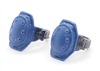 "Knee Pads with Strap BLUE & Black Version (PAIR) - 1:18 Scale Modular MTF Accessory for 3-3/4"" Action Figures"