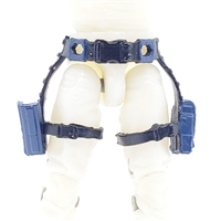 "Belt with Drop Down Leg Holster: BLUE & Black Version - 1:18 Scale Modular MTF Accessory for 3-3/4"" Action Figures"