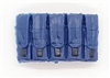 "Ammo Pouch: 5 Pocket Magazine Pouch BLUE & Black Version - 1:18 Scale Modular MTF Accessory for 3-3/4"" Action Figures"