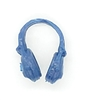 "Headgear: Radio Headset Headphones BLUE Version - 1:18 Scale Modular MTF Accessory for 3-3/4"" Action Figures"