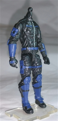 "MTF Male Trooper Body WITHOUT Head BLACK with BLUE ""Security-Ops"" Version BASIC - 1:18 Scale Marauder Task Force Action Figure"