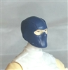 "Male Head: Balaclava Mask BLUE Version - 1:18 Scale MTF Accessory for 3-3/4"" Action Figures"