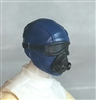 "Male Head: Mask with Goggles & Breather BLUE Version - 1:18 Scale MTF Accessory for 3-3/4"" Action Figures"